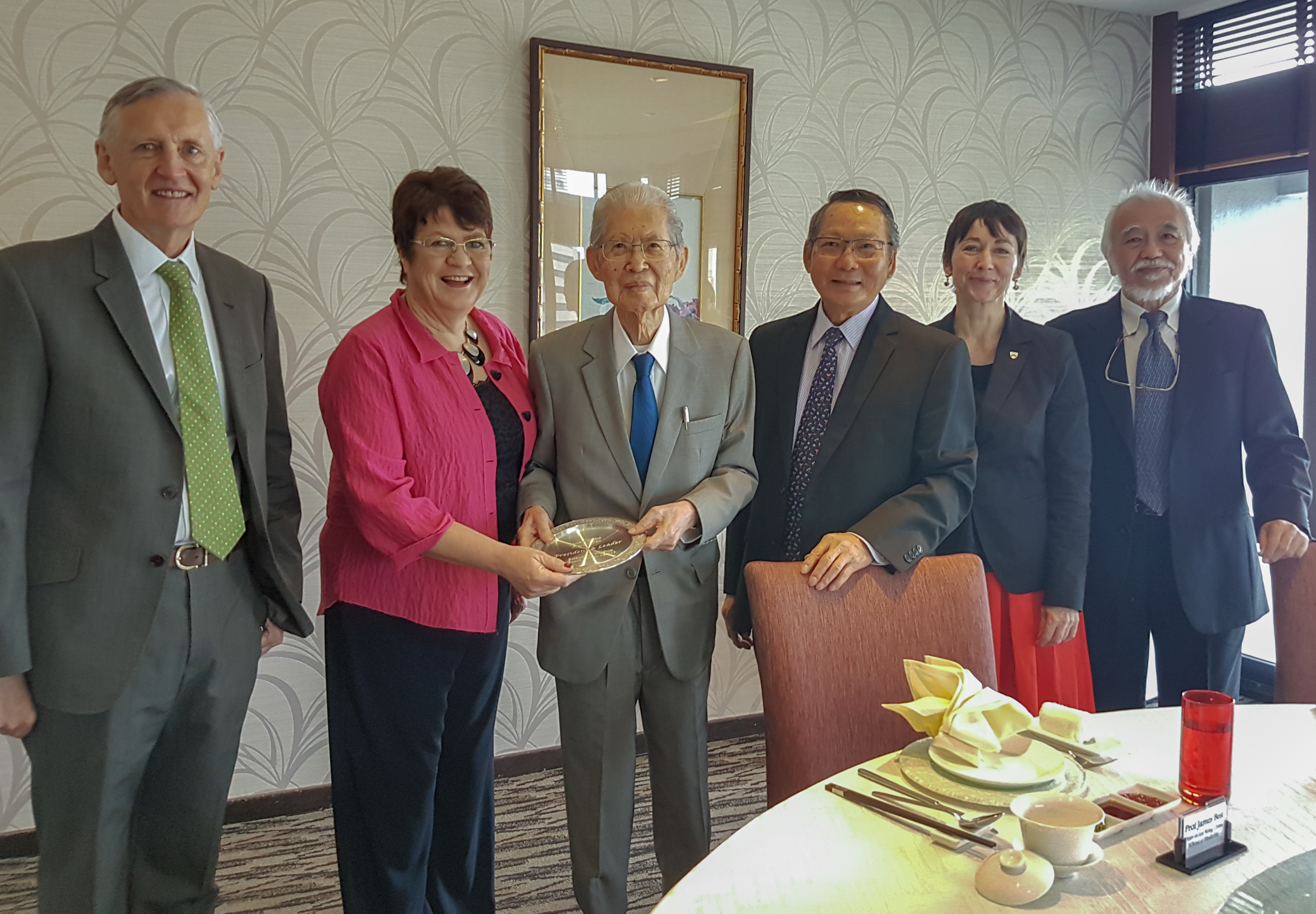 Lee Seng Tee, Anthony Teo and Professor of Wolfson College Cambridge  Jane Clark