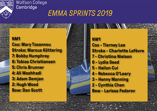 Team roster, Emma sprints