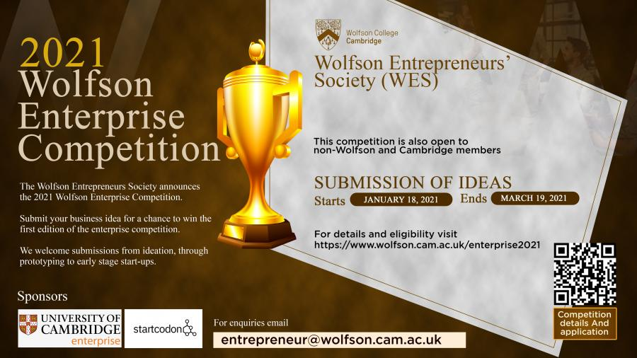 Wolfson Enterprise Competition 2021