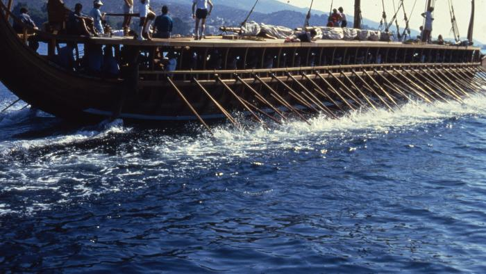 The trireme boat Olympias