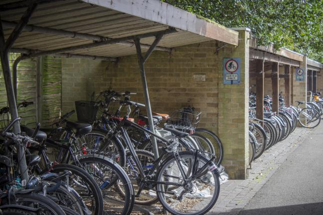 Bicycle racks behind Bredon House