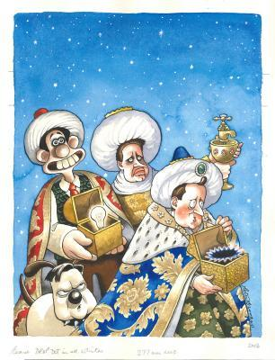 Spectator Christmas issue cover 2013 ̶ The Three Kings