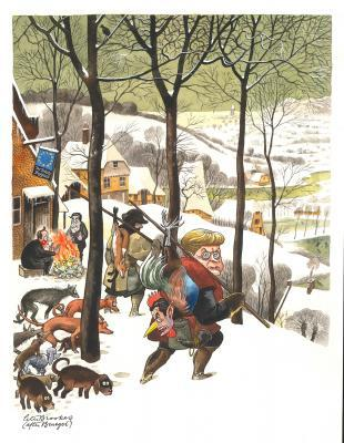 Spectator Christmas issue cover 2011 ̶ after Bruegel