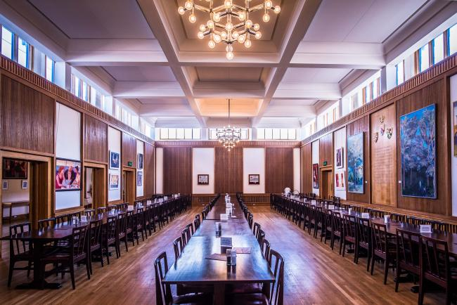 The Dining Hall is a large dining room at the heart of the College, seating up to 150 guests to suit your event
