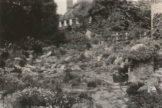 The rock garden in 1933 The rock garden in a more mature state in 1933, with 10 Selwyn Gardens in the background (from the Gardiner Family Photograph Albums, Wolfson College Archives, with kind permission of Celia Haddon).