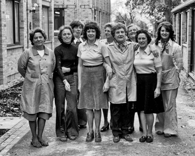 The College domestic staff in 1977