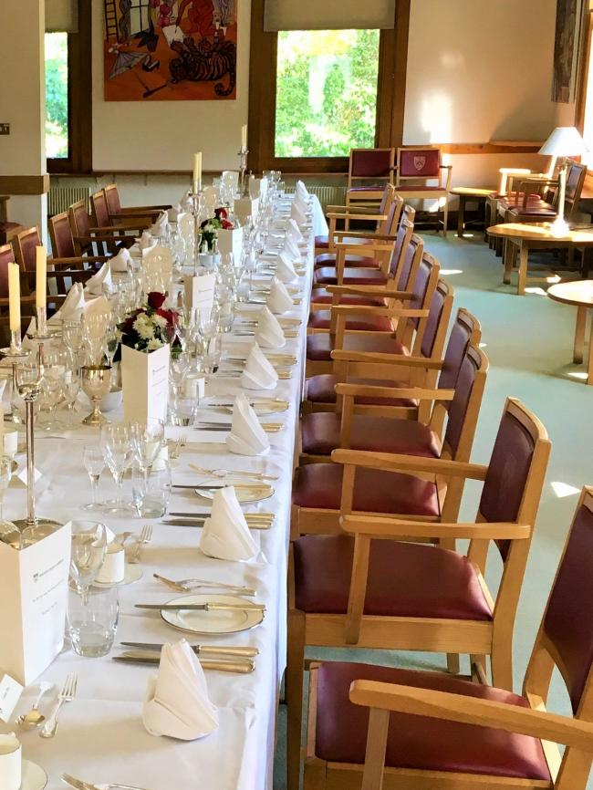 The Combination Room - perfect for pre-dinner receptions and formal dinners for up to 48 diners. Can also be used for casual lunches, such as hot fork buffets.
