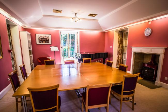 Fuchs House Music Room is an intimate reception space or meeting room