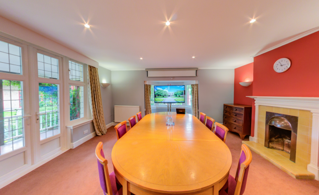 The lovely Plommer B is great for meetings of up to 8 people, looking onto the Betty Wu Lee Gardens - can be used for small meeting or as a break out space from the Lee Hall