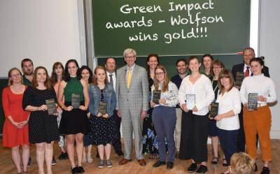 Vice-Chancellor Stephen Toope and winners of the Green Impact Awards