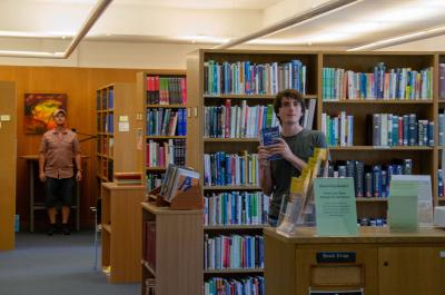 Charlie Barty-King in the Lee Library