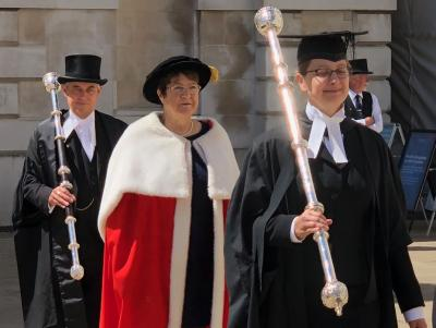 Professor Jane Clarke at graduation