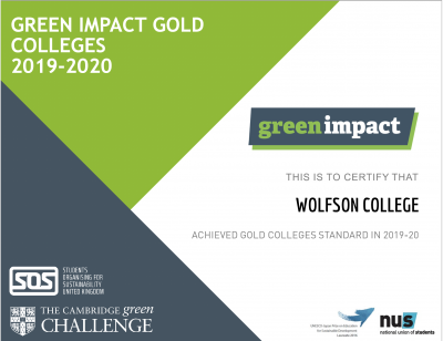Gold College Green impact