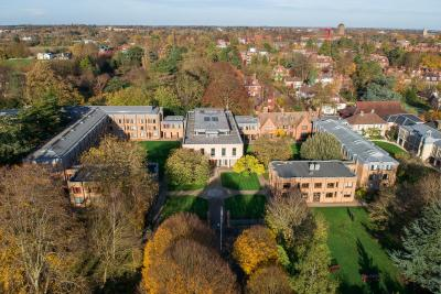 Aerial of Wolfson College