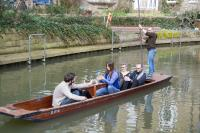 Puntseq on a punt collecting samples